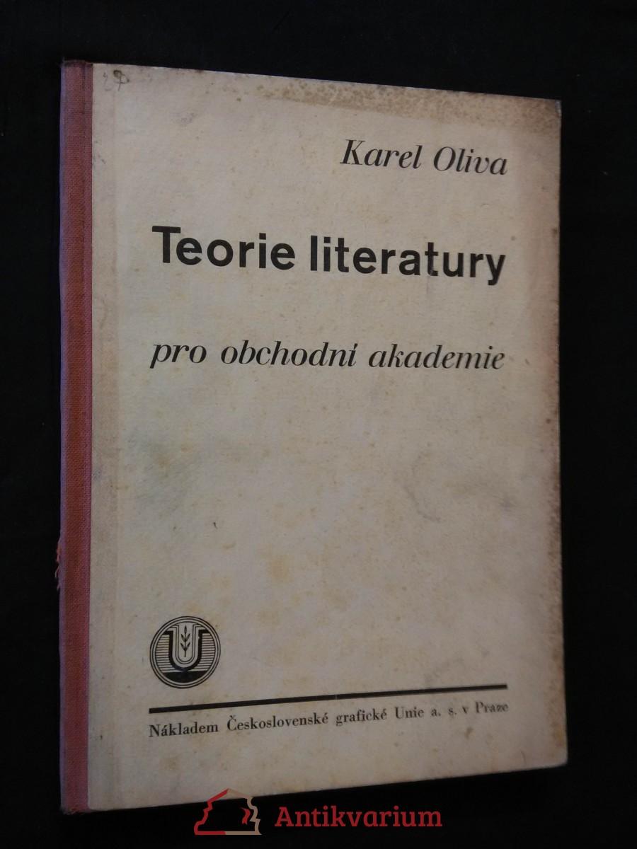 Teorie literatury pro obchodní akademie (Oppl, 102 s.)