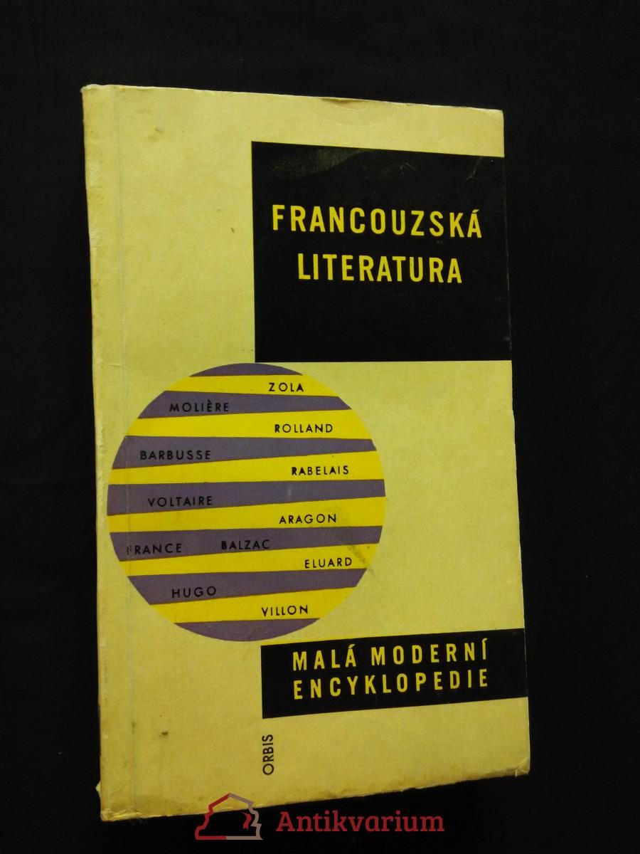 Francouzská literatura (Obr, 270 s.)