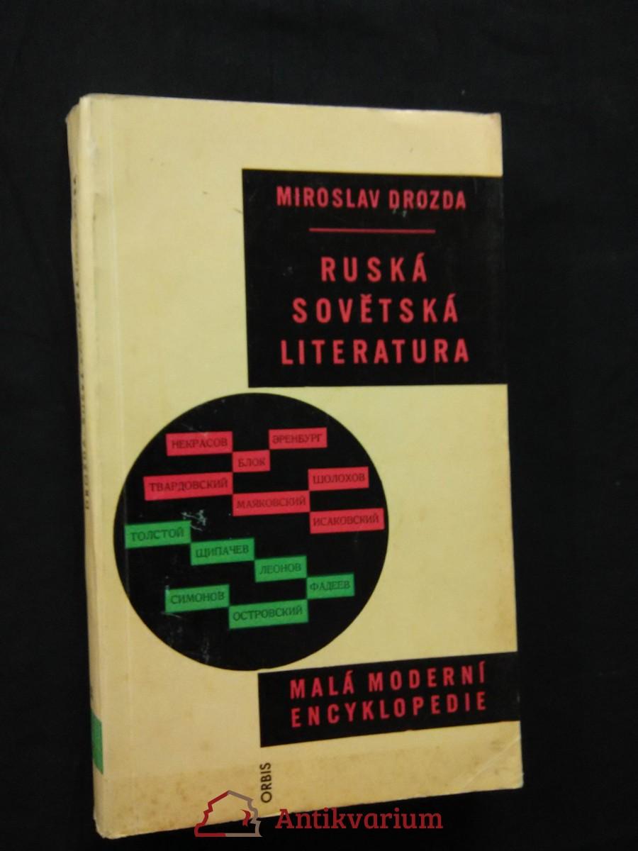 antikvární kniha Ruská sovětská literatura (Obr, 348 s.), 1961