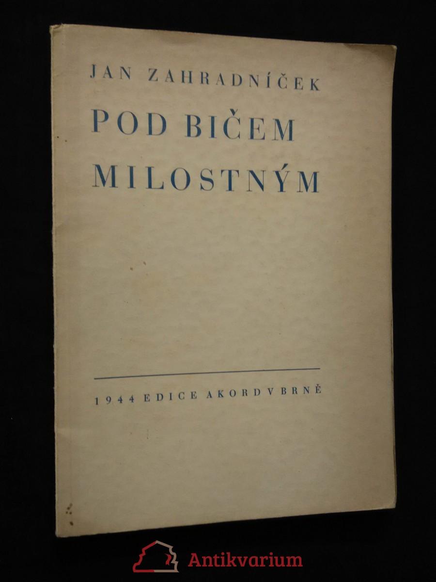 Pod bičem milostným (A4, Obr, 74 s., typo A. Lískovec)