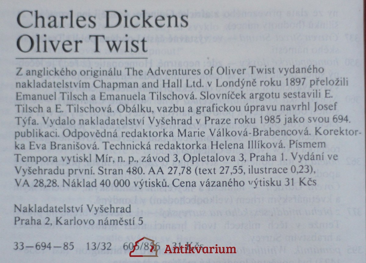dickens oliver twist  oliver twist 1985