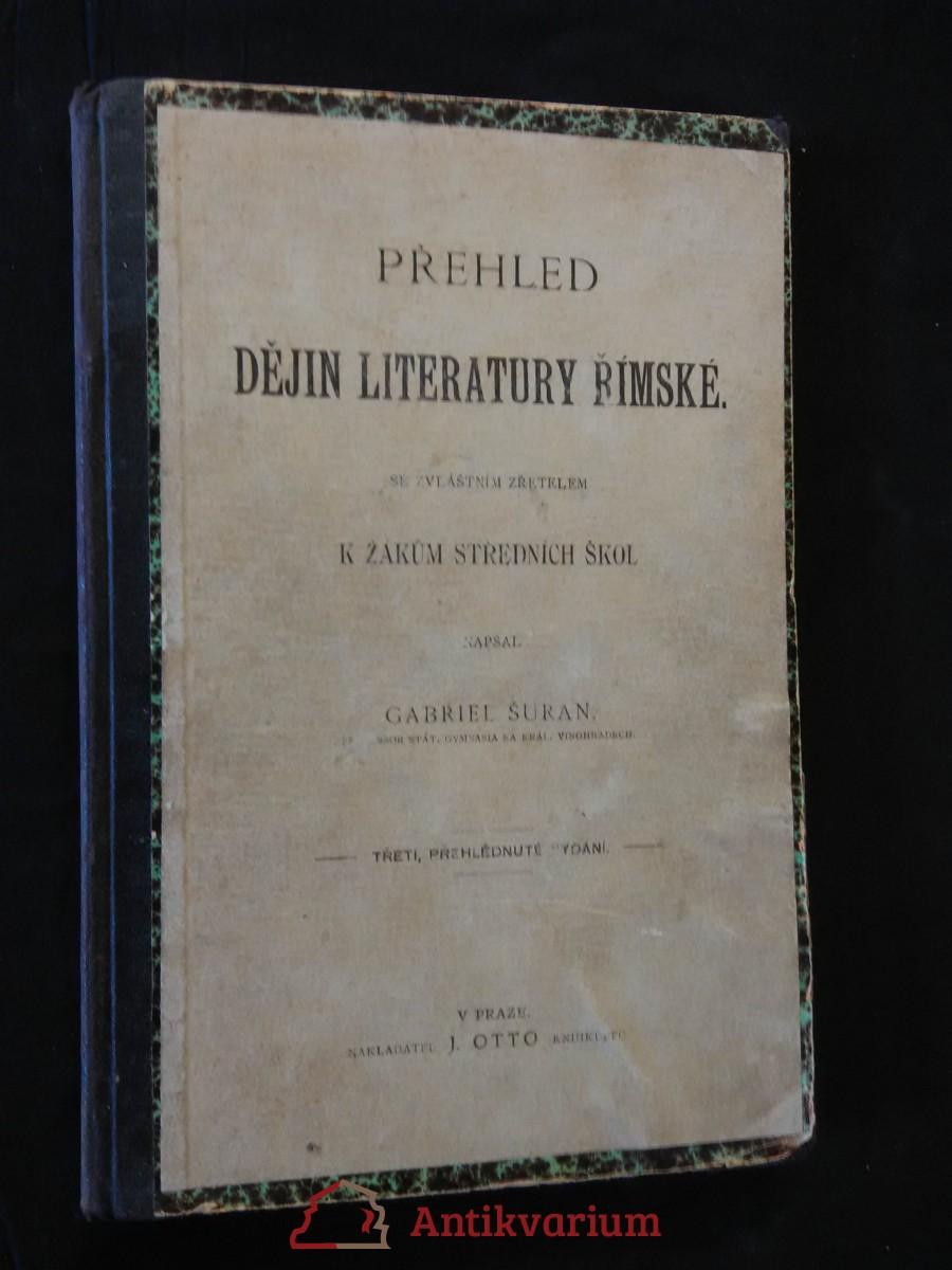 Přehled dějin literatury římské