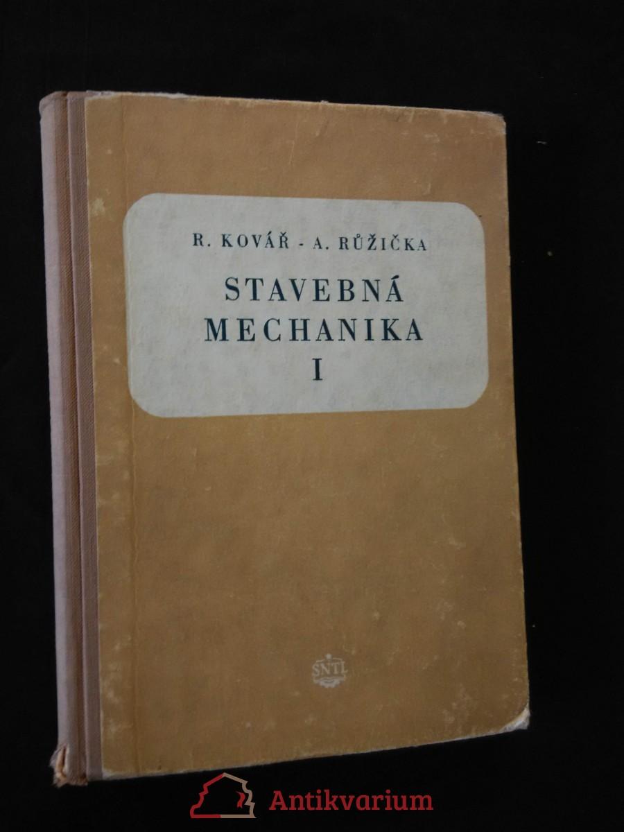 antikvární kniha Stavební mechanika, 1954