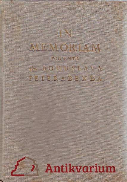 In memoriam docenta Dr. Bohuslava Feierabenda