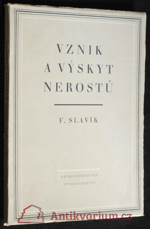 antikvární kniha Vznik a výskyt nerostů, 1952