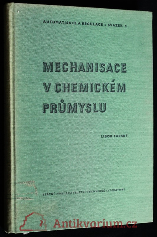 antikvární kniha Mechanisace v chemickém průmyslu, 1957
