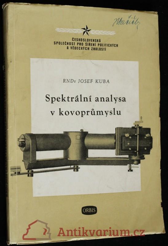 antikvární kniha Spektrální analysa v kovoprůmyslu, 1953