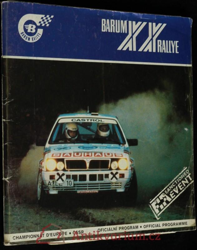 antikvární kniha XX. Barum rallye 1990, 1990