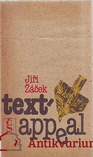 antikvární kniha Text - appeal. Popěvky, odrhovačky a blues 1973 - 1984, 1986