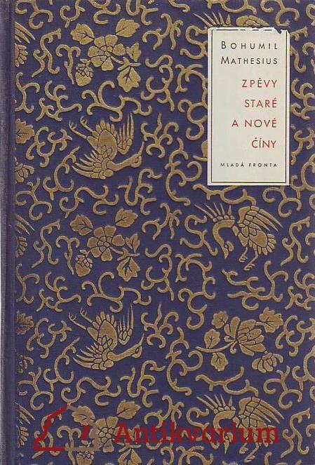 antikvární kniha Zpěvy staré a nové Číny, 1953