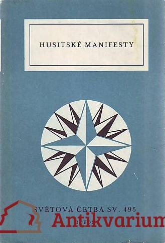 antikvární kniha Husitské manifesty, 1986