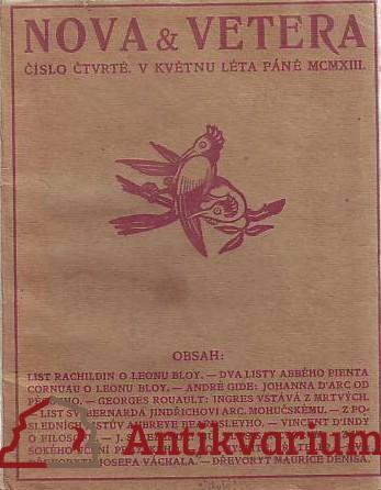 antikvární kniha Nova et Vetera, 1913