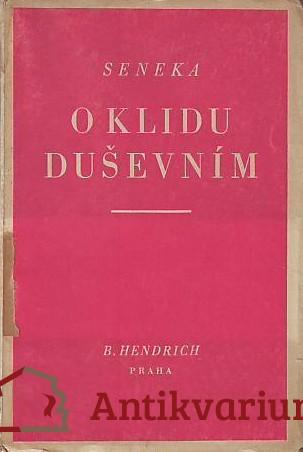 antikvární kniha O klidu duševním, 1928