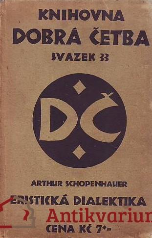 antikvární kniha Eristická dialektika, 1927