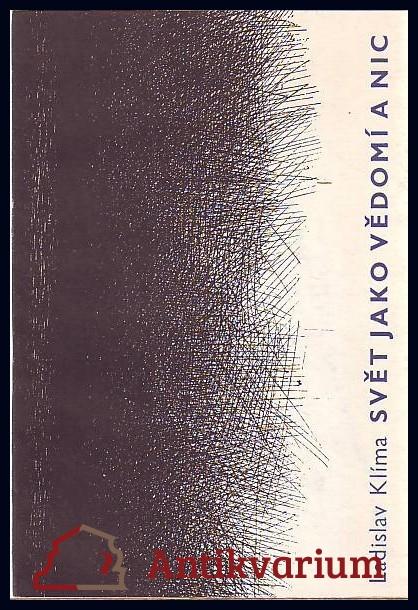antikvární kniha Svět jako vědomí a nic, 1990