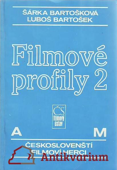 antikvární kniha Filmové profily 2. Českoslovenští filmoví herci I-II., 1990