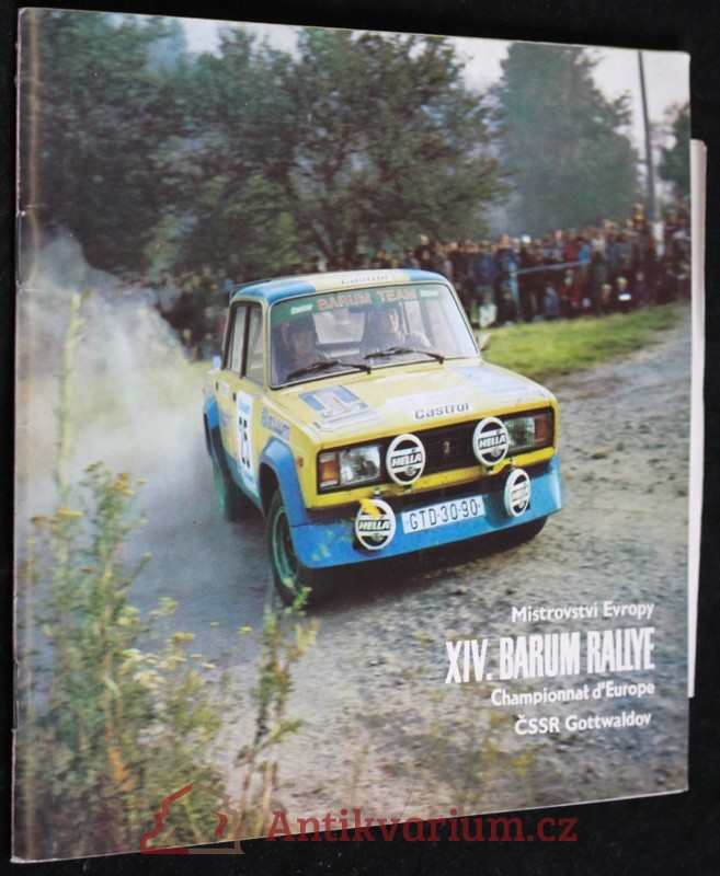 antikvární kniha Program XIV. Barum rallye, 1984