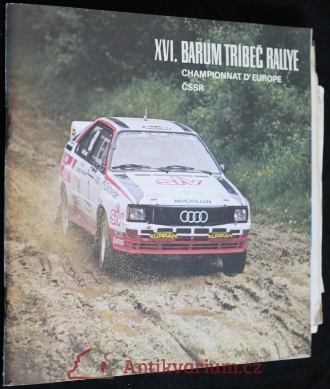 antikvární kniha Program XVI. Barum Třebíč rallye, 1986