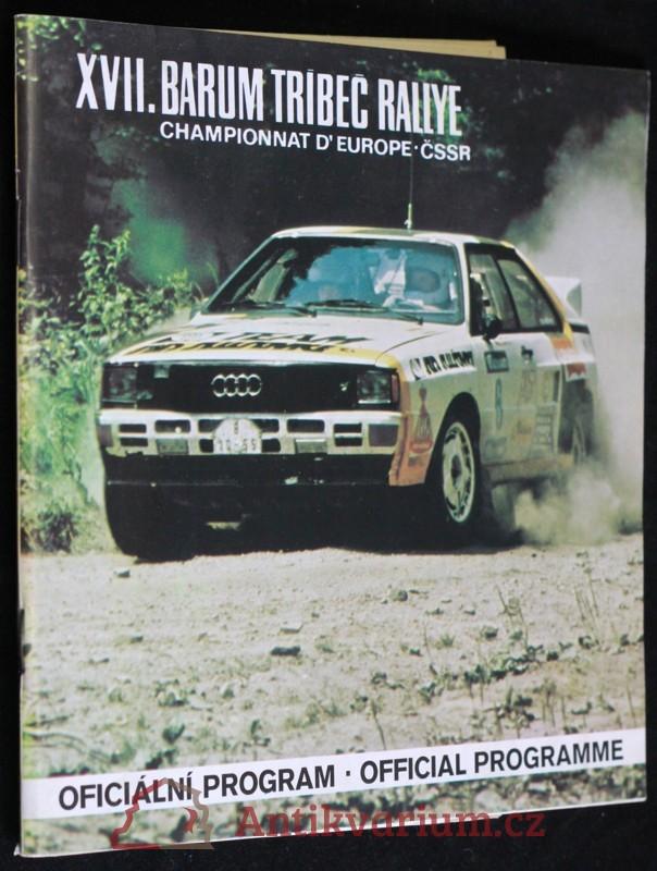 antikvární kniha Program XVII. Barum Třebíč rallye, 1987