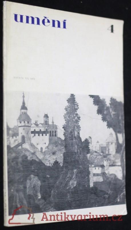 antikvární kniha Umění 4 ročník XX., 1972