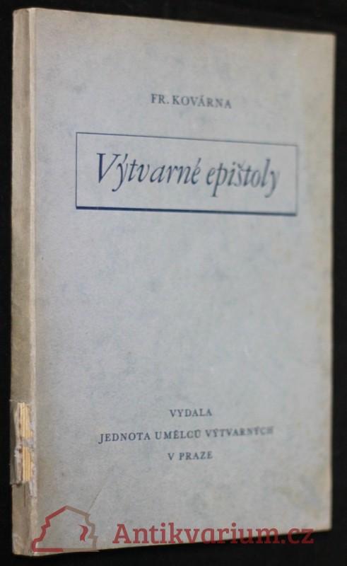 antikvární kniha Výtvarné epištoly, 1941