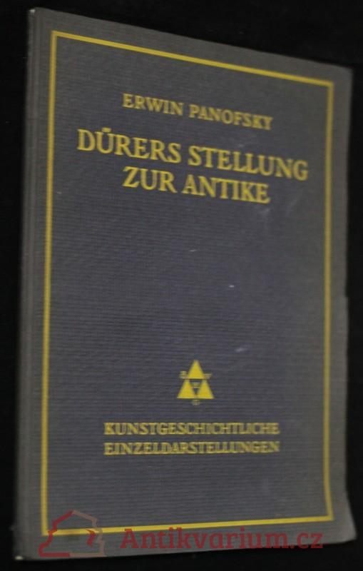 antikvární kniha Dürers stellung zur antike, 1922