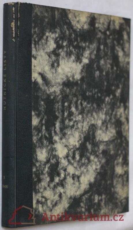 antikvární kniha Hutnické listy, roč.3, č.1-12, 1948