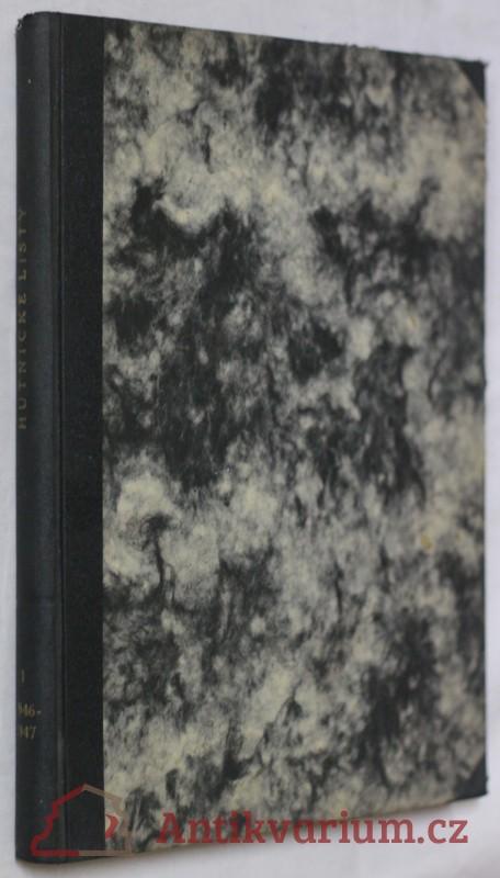 antikvární kniha Hutnické listy, roč.1, č.1-12, 1946