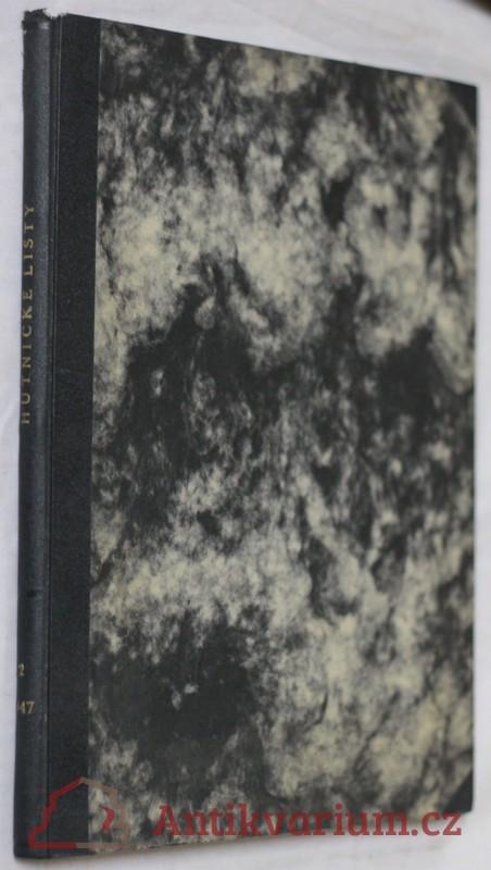 antikvární kniha Hutnické listy, roč.2, č.1-6., 1947