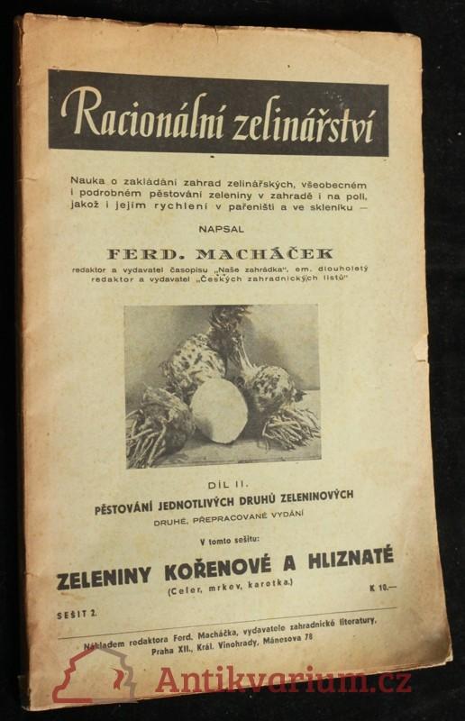 antikvární kniha Racionální zelinářství sešit 2: zeleniny kořenové a hliznaté, neuveden