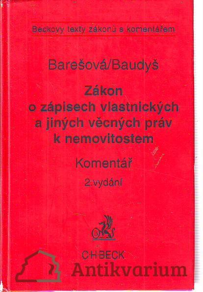 antikvární kniha Zákon o zápisech vlastnických a jiných věcných práv k nemovitostem, 1996