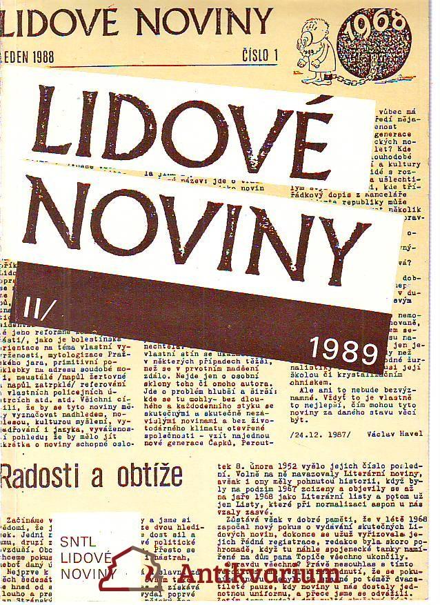 Lidové noviny I.-II. 1988 - 1989.