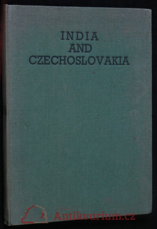 antikvární kniha India and Czechoslovakia. Part I, 1943