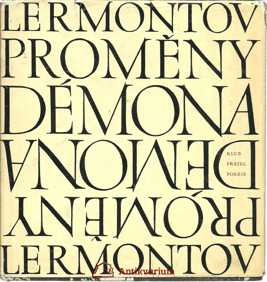 Proměny démona. Vnitřní obraz básníkova osudu v zrcadle jeho lyriky