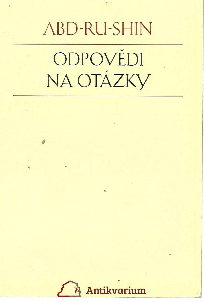 Odpovědi na otázky 1924 - 1937