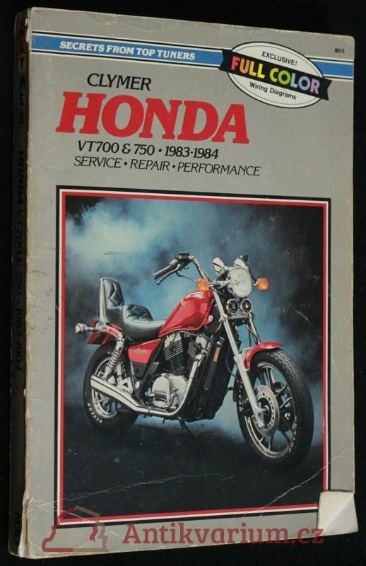 antikvární kniha Clymer Honda VT700 750, 1983-84, 1985