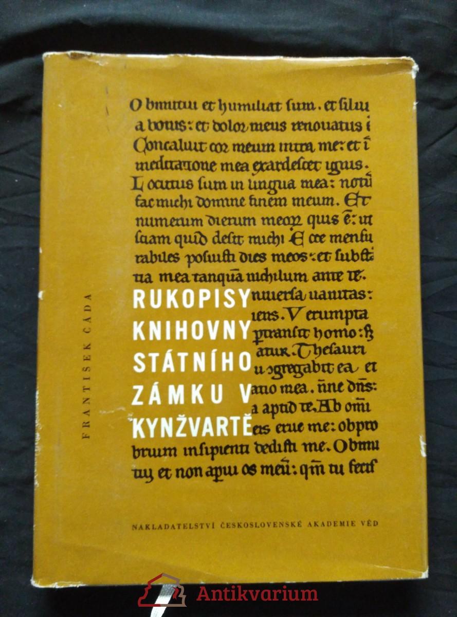 Rukopisy knihovny státního zámku v Kynžvartě (A4, Ocpl, 212 s., 6 příl.)