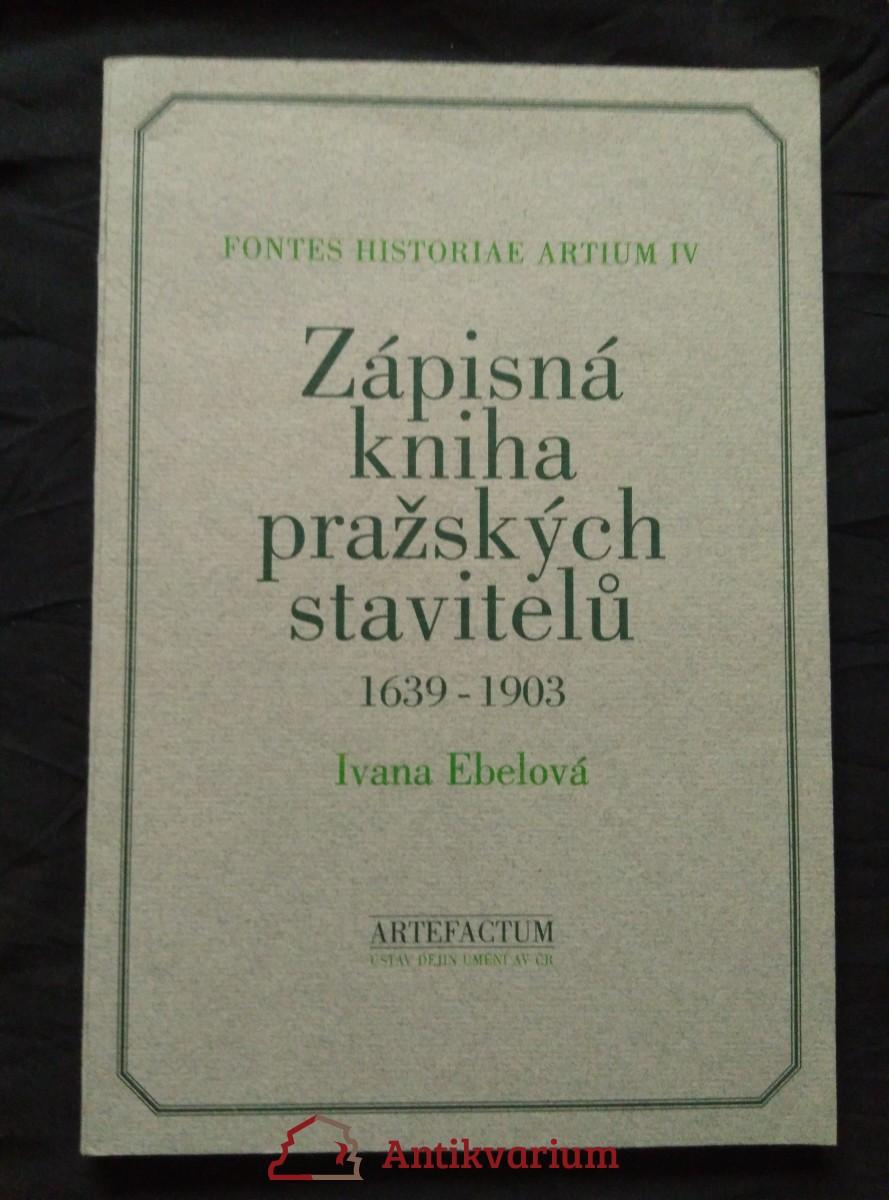 Zápisná kniha pražských stavitelů 1639 - 1903 (A4, Obr, 96 s., čj, něm.)