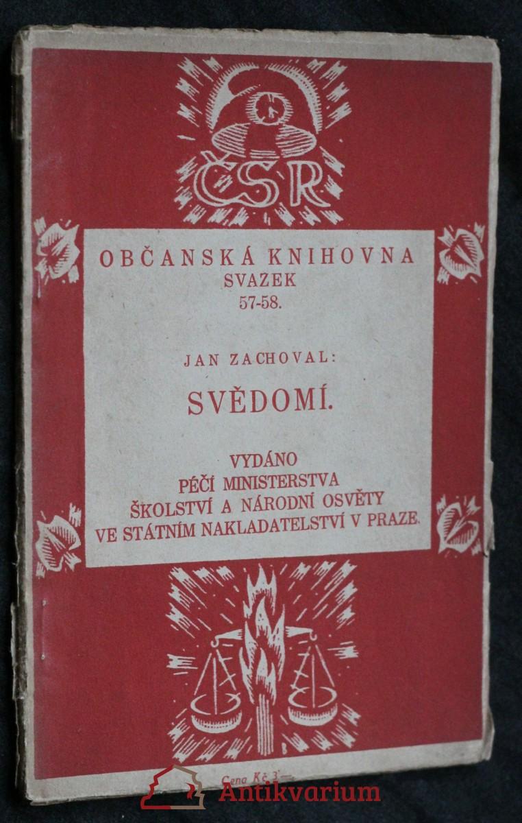 antikvární kniha Svědomí, 1924
