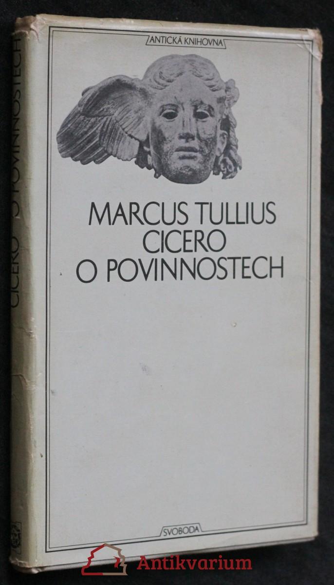 O povinnostech : rozprava o třech knihách věnovaná synu Markovi