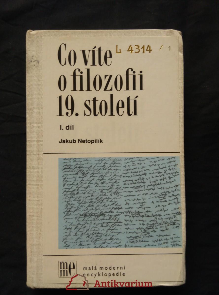 Co víte o filozofii 19. století 1 (Ocpl, 296 s., raz.)