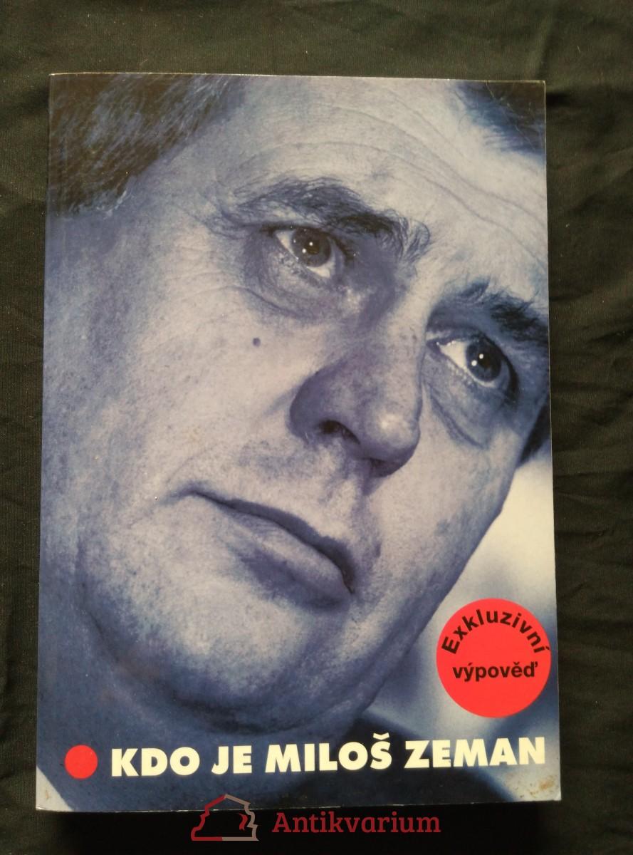 antikvární kniha Kdo je MilošZeman, 1998