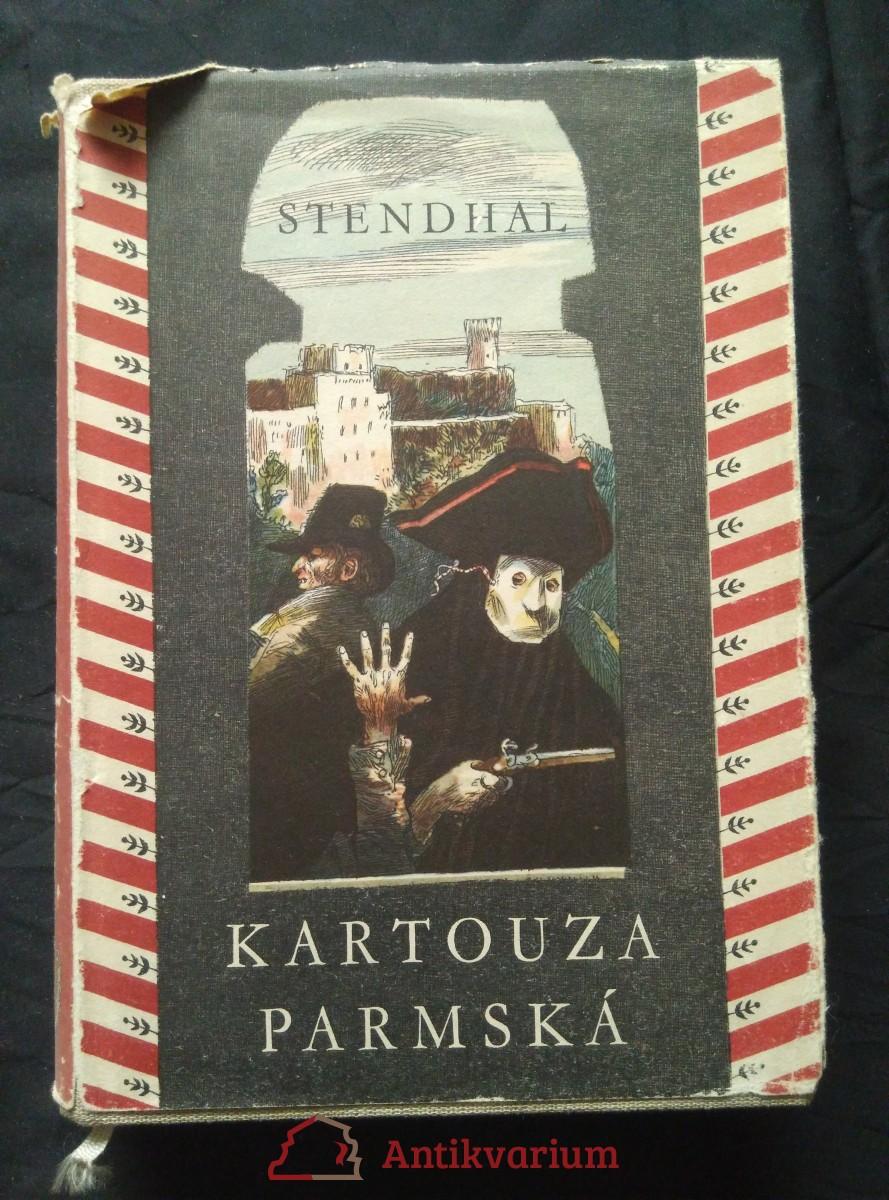 antikvární kniha Kartouza parmská (A4, Ocpl, 388 s., ob, il a vaz  J. Liesler, typo Z. Sklenář), 1957