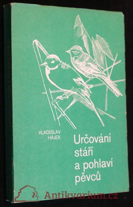 antikvární kniha Určování stáří a pohlaví pěvců, 1978