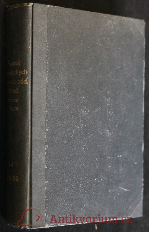 antikvární kniha Sborník faunistických prací entomologického oddělení Národního musea v Praze 1956 - 1959, 1956