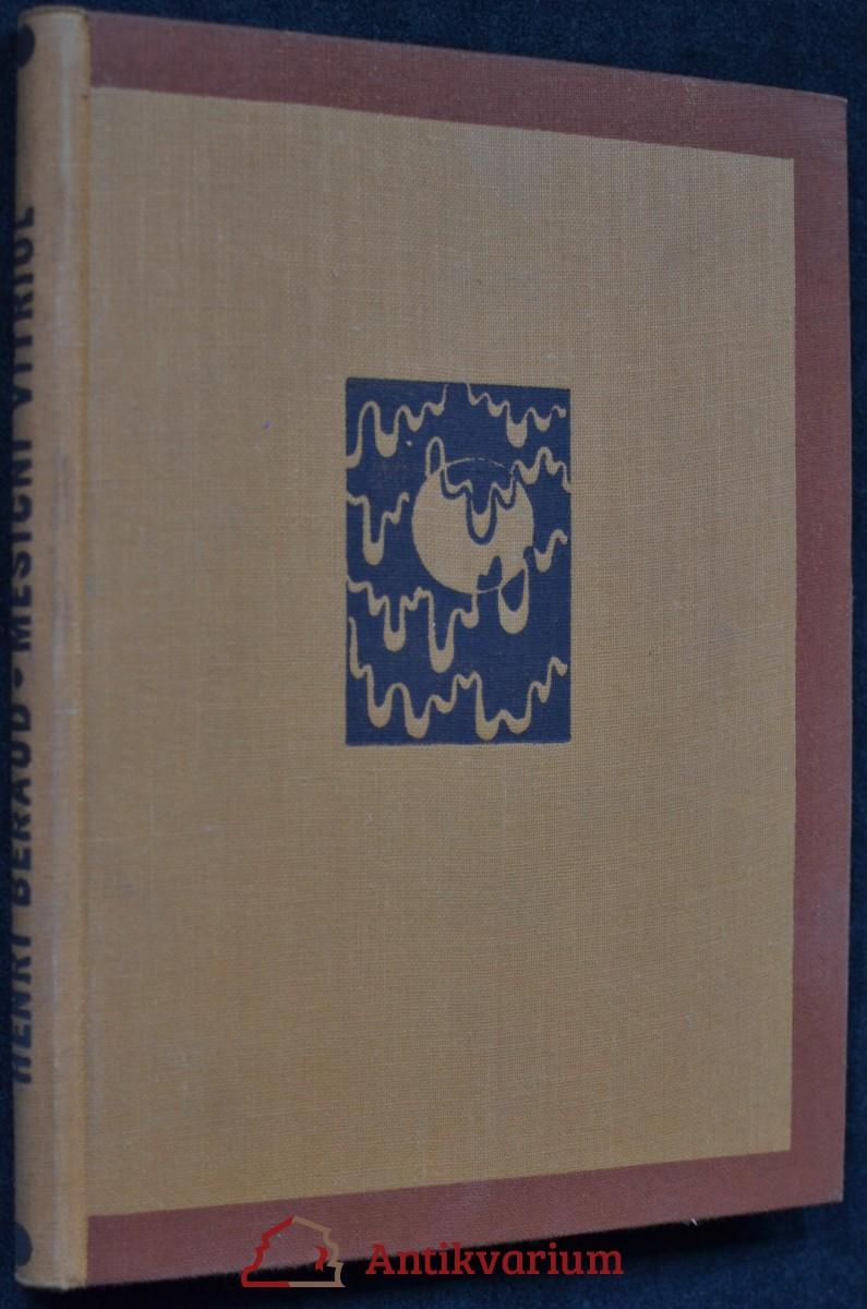 antikvární kniha Měsíční vitriol, 1925