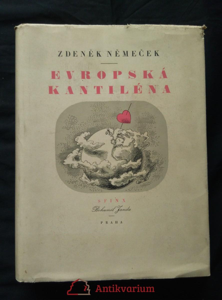 Evropská kantiléna (A4, Oppl, 440 s., 16 kamenorytin kolor. bar. lit., 10 perokreseb C. Bouda)