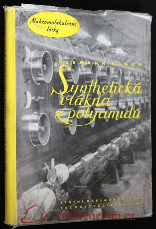 antikvární kniha Syntetická vlákna z polyamidů, 1957