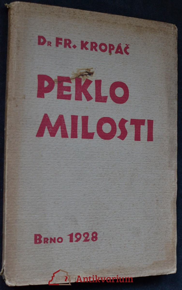 antikvární kniha Peklo milosti : román, 1928