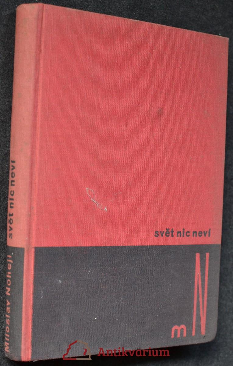 antikvární kniha Svět nic neví : román, 1934